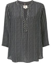 Diega - Flared Embroidered Blouse - Lyst