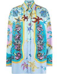 Versace - Trésor De La Mer Print Shirt - Lyst