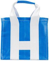 Comme des Garçons Large Shopping Bag - Blue