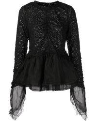 Renli Su Julia Long-sleeved Silk Blouse - Black