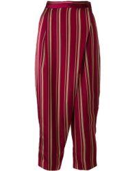 Antonio Marras - Foldover Striped Trousers - Lyst