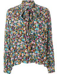 Balenciaga Эксклюзивно На Farfetch - Блузка 'fluid Vareuse' С Цветочным Принтом - Многоцветный