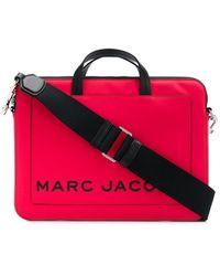 Marc Jacobs Printed Logo Laptop Bag - Red