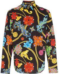 Versace Camicia Gioelleria Jetés con stampa - Multicolore