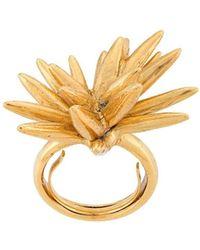 Oscar de la Renta Star-shaped Ring - Metallic