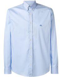 Etro Повседневная Приталенная Рубашка - Синий