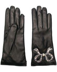 Gucci Перчатки С Бантом - Черный