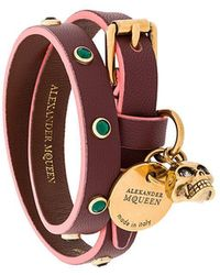 Alexander McQueen - Charm Double Wrap Bracelet - Lyst