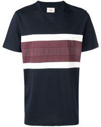 Folk ボーダー Tシャツ - ブルー