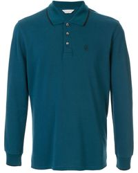 Gieves & Hawkes ロングスリーブ ポロシャツ - ブルー