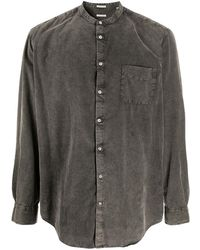 Massimo Alba - Band Collar Washed Shirt - Lyst