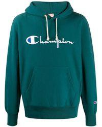 Champion ロゴ パーカー - グリーン