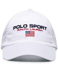 Polo Ralph Lauren Sport Capsule - Baseballpet Met Logo In Wit