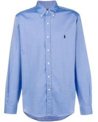 Ralph Lauren Long Sleeved Shirt - Blue