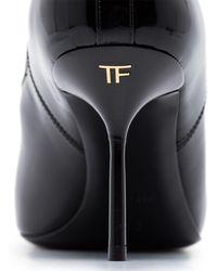 Tom Ford レザー アンクルブーツ - ブラック