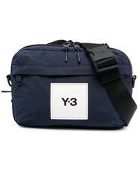 Y-3 ロゴパッチ ベルトバッグ - ブルー