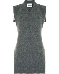 Jil Sander V-neck Sleeveless Knit Top - Grey