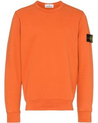 Stone Island Sweater Met Ronde Hals - Oranje