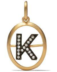Annoushka K ダイヤモンド ペンダント 18kイエローゴールド - メタリック
