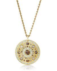 De Beers Talisman Large Medal ダイヤモンド ネックレス 18kイエローゴールド - メタリック