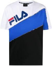 Fila カラーブロック Tシャツ - ブラック