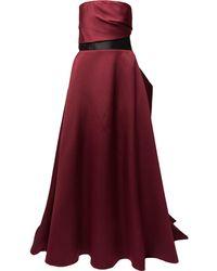 Solace London Vestido de fiesta palabra de honor - Rojo
