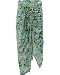 Preen By Thornton Bregazzi - Floral Print Draped Skirt - Lyst
