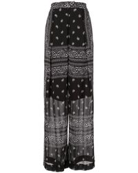 Dion Lee Bandana-print Sheer Trousers - Black