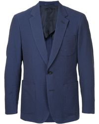 Gieves & Hawkes Blazer formal ajustado - Azul