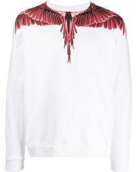 Marcelo Burlon Wings スウェットシャツ - ホワイト
