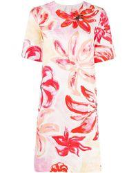Marni Vestido tubo con motivo floral - Rosa
