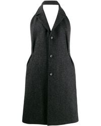 Maison Margiela ヘリンボーンコート - ブラック