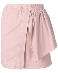N°21 アシンメトリー スカート - ピンク