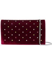 Casadei Studded Shoulder Bag - Red