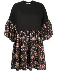 MSGM - Robe courte à fleurs - Lyst