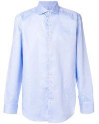 Etro - Dot Print Curved Hem Shirt - Lyst