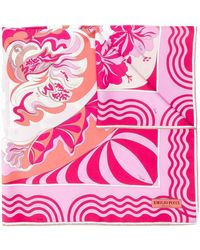 Emilio Pucci Abstract Floral Print Scarf - Pink