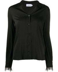 Calvin Klein Блузка С Длинными Рукавами - Черный