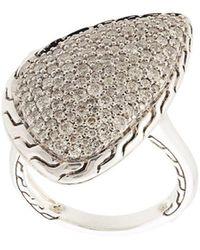 John Hardy - Classic Chain Diamond Ring - Lyst