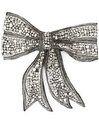 Dolce & Gabbana - Crystal Embellished Bow Tie - Lyst
