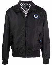 Fred Perry Harrington Patched Bomber Jacket - Black