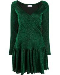 RED Valentino - メタリック ペプラムドレス - Lyst