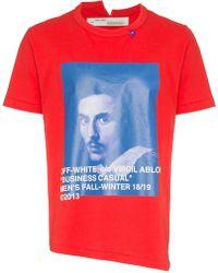 Off-White c/o Virgil Abloh - Bernini Print T-shirt - Lyst