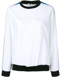 KENZO Embroidered Tiger Top - White