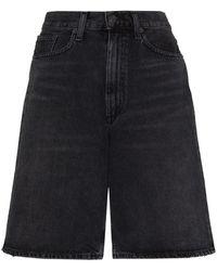 Agolde Knee-length Denim Shorts - Black