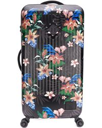 Herschel Supply Co. Floral Print Trolley Suitcase - Pink