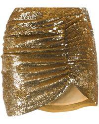 retroféte Asymmetric Mini Skirt - Metallic