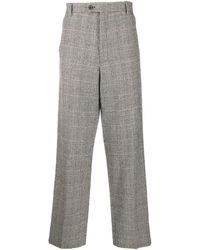Aries Glen Check Wide-leg Trousers - Black