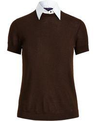 Ralph Lauren Collection Multi-panel Short-sleeve Top - Brown