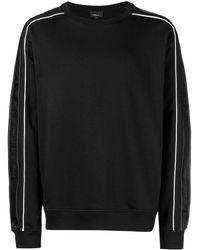 3.1 Phillip Lim Sweatshirt mit Streifen - Schwarz